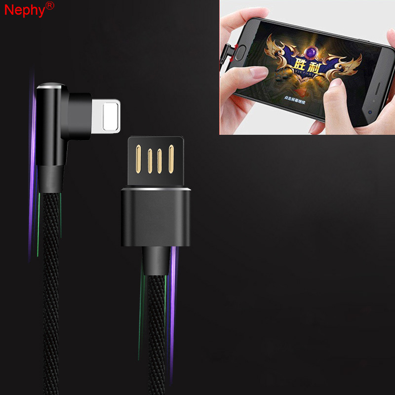 90 Degree Charger Cable Data USB Wire Cord 1M For iPhone 6 S 6S 5 5C 5S SE 5SE 7 8 Plus X XR XS Max iPad mini air Fast Charging