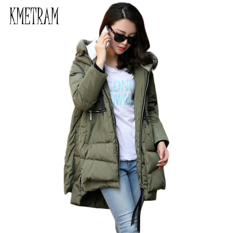 Winter Jacket Women 2018 New Europe Style Fashion Loose Medium Long Autumn Winter Plus Size Down