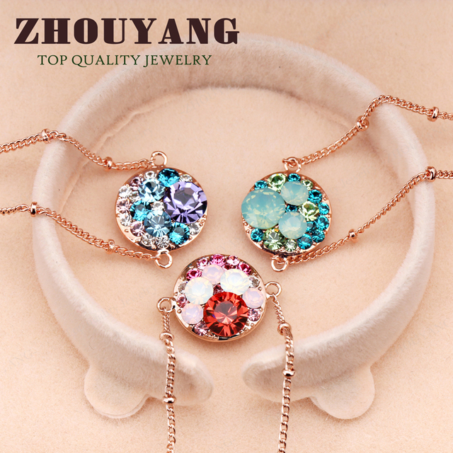 Top Quality Lovely Cartoon Rose Glod Color Bracelet Jewelry Elements Austrian Crystals ZYH116 ZYH161 ZYH170