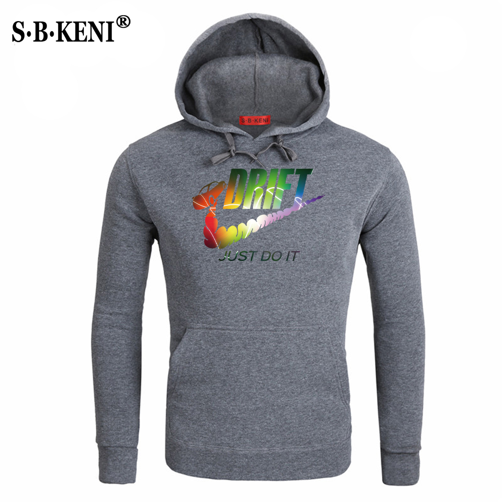 New JUST DO IT Men Hoodies Sweatshirts Cotton Groot Long Sleeve Hoodie Lightning print Mens Casual Brand Clothing Hoody 3