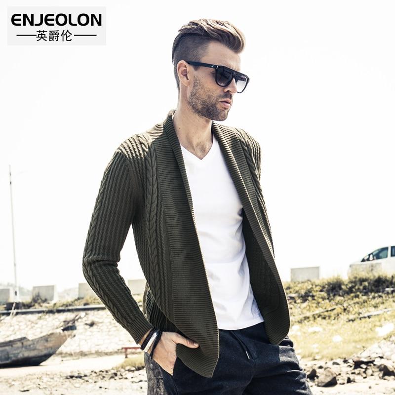 Enjeolon top marque automne hiver cardigan tricoté Pulls homme - Vêtements pour hommes - Photo 2