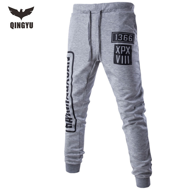 Mens Joggers Pantalones 2017 Marca Hombre Pantalones Cargo Sólido Delgado Medias Pantalones Hombres Basculador de Compresión Digital PP