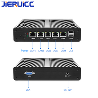 Fanless Mini PC pFsense Celeron J1900 Quad Core 4 Gigabit Firewall Router1*COM.VGA display for firewall mini pc