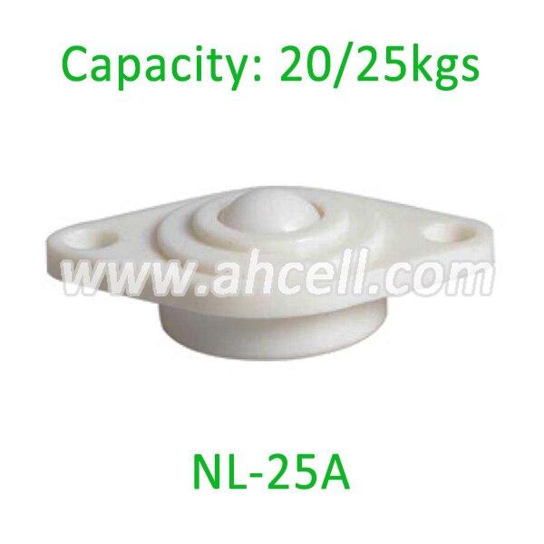 Free Shipping 5pcs NL-25A Nylon Ball transfer unit,POM ball bearing loading capacity full plastic transfer rollers for glass