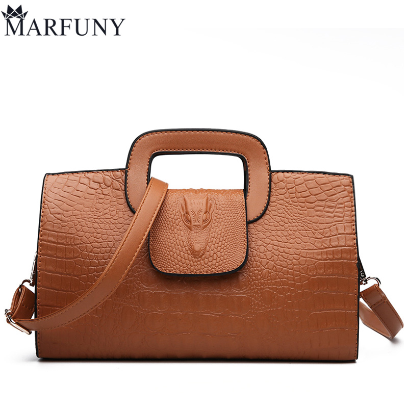 MARFUNY Brand Alligator Tote Bag Crossbody Bags For Women High Quality Pu Leather Luxury Handbags Women Bags Designer Sac цена