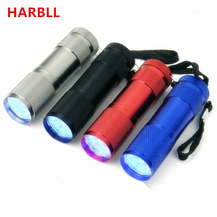 HARBLL Car r134a R410 R12 automotive air conditioning repair tools 9 LED UV violet fluorescent agent leak detection flashlight