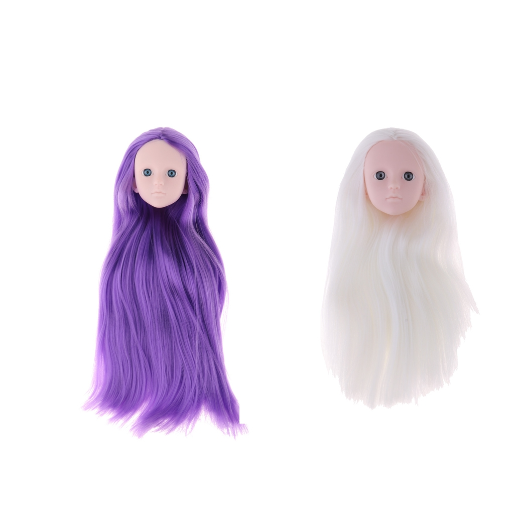 MagiDeal 14 Female Bjd Doll Head Sculpt No Make up Ball-Jointed Doll DIY Body Parts Accessory
