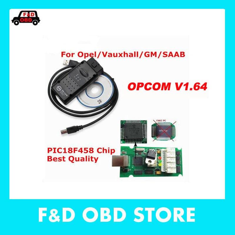 Prix pour V1.64 Dernière Version OPCOM avec PIC18F458 puce OBD2 OP-COM/OP COM CAN BUS Interface OBDII Pour Opel scanner de diagnostic op com