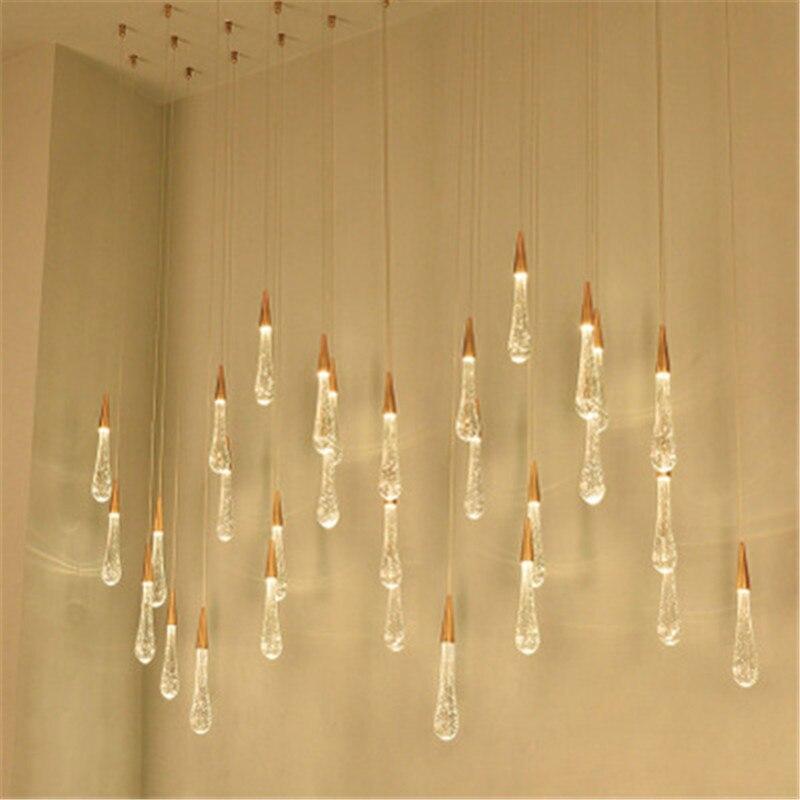 Postmodern Minimalist Lamp Luxury Hotel Lobby Villa Italy Milan Designer Chandelier Drop Chandelier Restaurant Cafe Chandelier