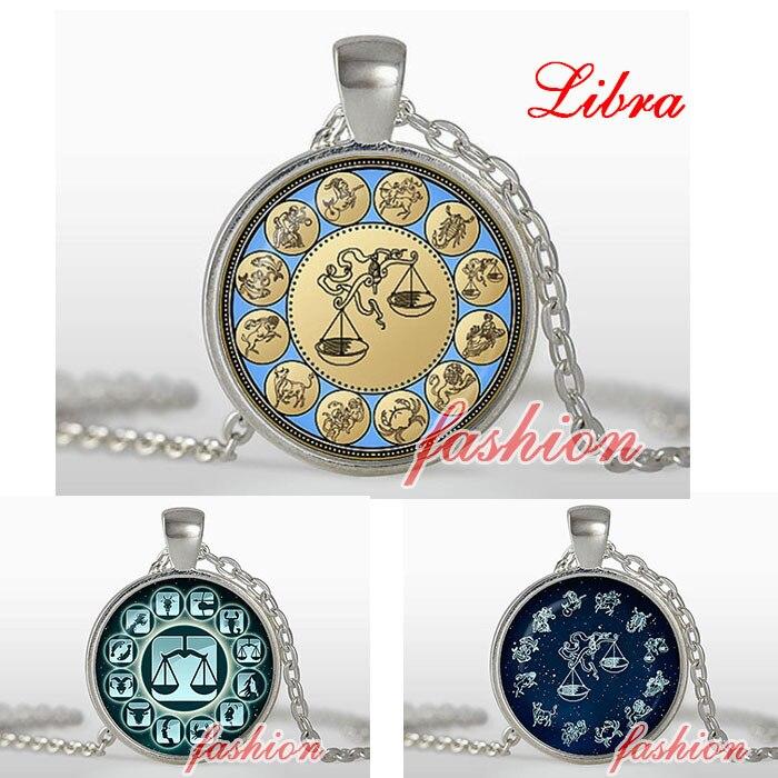 f84318ba10 Gioielli libra zodiaco ciondolo pendente, zodiac, cupola di vetro, collana  libra bilance segno zodiacale charms zodiacale collana