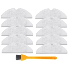 10Pcs/Lot Mop Cloths Pads Washable Cloth Mopping Pad For Xiaomi Generation 2 Roborock Vacuum Cleaner Spare Parts 4pcs original roborock parts mop cloths for xiaomi vacuum cleaner generation 2 dry wet mopping cleaning