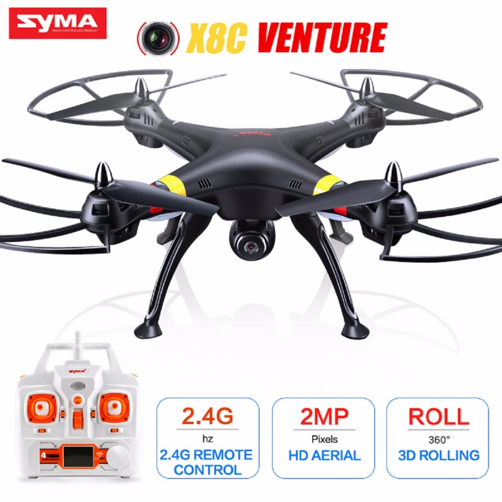 SYMA X8C Drone With Camera HD 2.4G 4CH 6 Axis Drone Professional RC Quadcopter shatter resistant Toy Birthday Gift Black Color кровать из массива дерева austin furniture 1 8