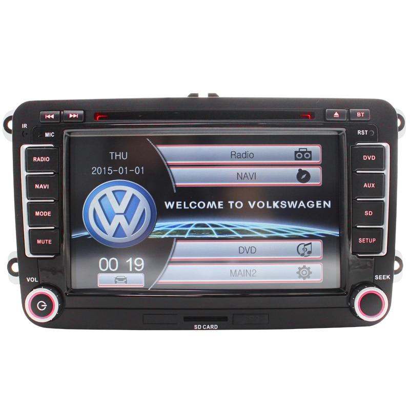 2 Din wWince VW font b Car b font DVD GPS Navi GOLF 6 Polo Bora