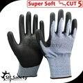 SRSAFETY 4 Pairs 13 датчик синий нейлон HPPE РАБОЧИЕ перчатки, сократить уровень 5 Мягкий Устойчива К Порезам Перчатки