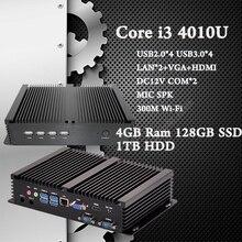 С 4 ГБ Ram 128 ГБ SSD 1 ТБ HDD ПРОЦЕССОР Intel Core i3 4010U неттоп Ultra PC DHL Бесплатная Доставка mini pc Windows 7 Промышленных ПК