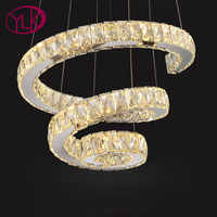 Creative Design Modern LED Chandelier Lighting Double Rings Hanging Dining Room Light Fixture Home Lustres De