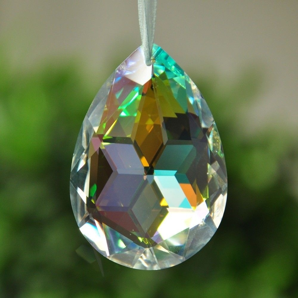 38mm Clear Crystal Drops Chandelier Pendant Lamp Prisms Beads Chrismas Decoration Hanging Suncatcher