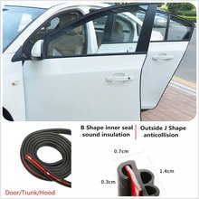 5M Car Door Seal Strip Rubber Waterproof Trim Sound Insulation Soundproof Car-Styling Auto