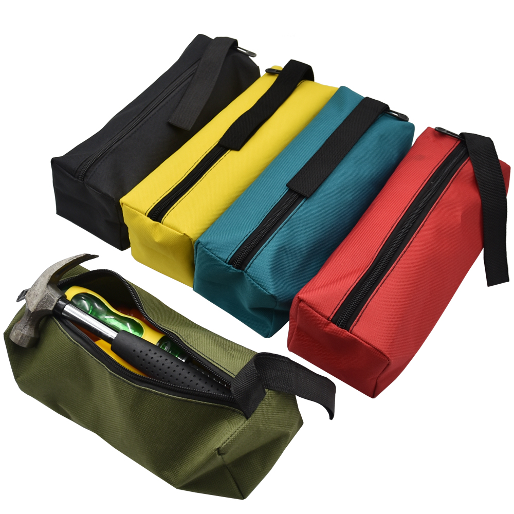 Professional Sale Black Oxford Canvas Tool Bag Zipper Hardware Storage Toolkit Travel Makeup Hand Pouch 2019 Tool Organizers