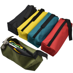 Oxford lona impermeable almacenamiento bolsa para herramientas de mano tornillos taladro de uñas Bit Metal partes pesca viaje bolsa organizadora maquillaje bolsa estuche
