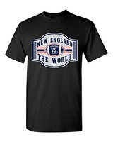 Cheap Sale New England VS The World Footballer T Shirt Tee Sleeve Neck Comfort Soft T