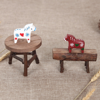 Retro mini chair and table photo accessories shot posing style decorative newborn photography props creative items 1