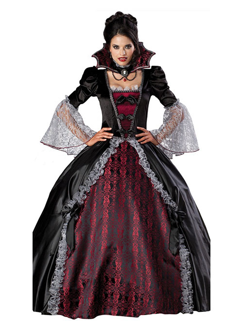 Halloween Noble Queen Vampire Costume Sexy Gothic Halloween Carnival Party Fancy Dress Female Devil Cosplay Costume halloween queen cosplay dress