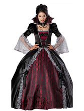 Halloween Noble Queen Vampire Costume Sexy Gothic Halloween Carnival Party  Fancy Dress Female Devil Cosplay Costume