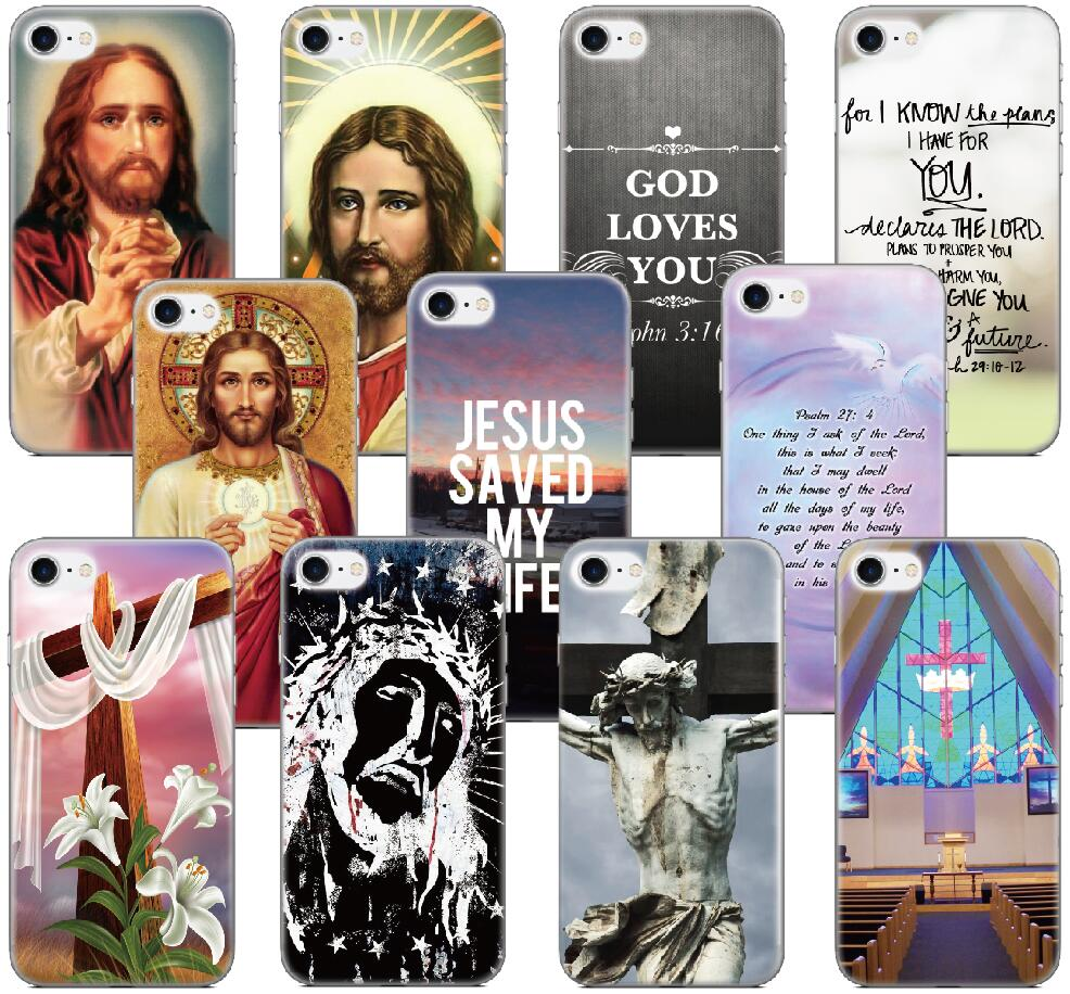 Christian Jesus Shell Cover For iphone X 4 4S 5 5S SE 5C 6 6S 7 8 Plus For iPod Touch 5 6 Phone Case Coque Fundas Capa Bumper