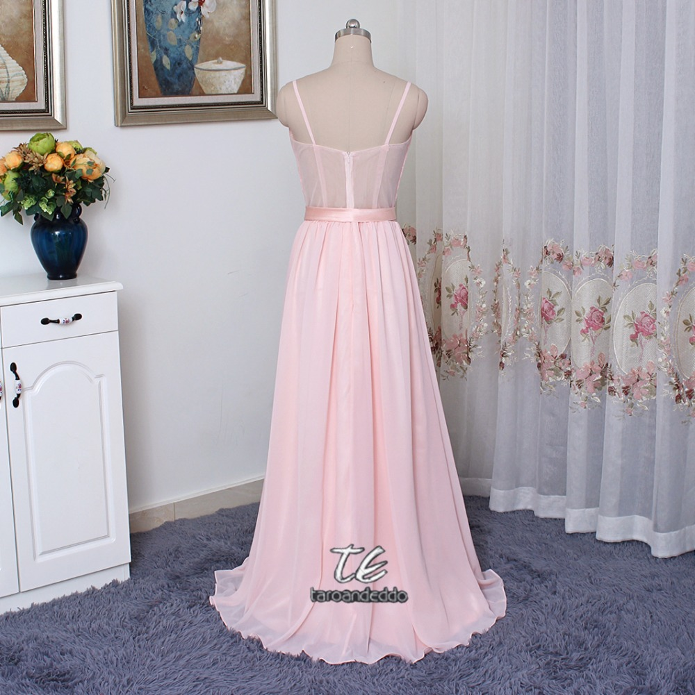 Sequin Bodice Bridesmaid Dress With Chiffon Skirt