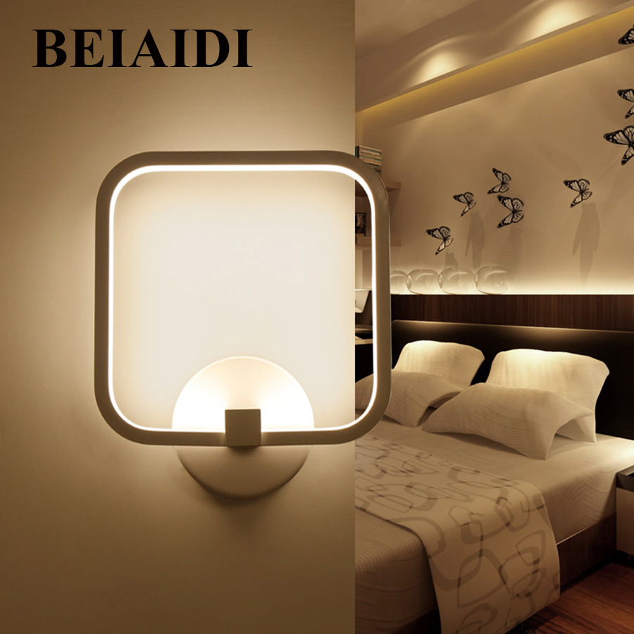 BEIAIDI Square 12W Led Wall Lamp 20X20CM Bedroom Background Bedside Wall Sconce Light Creative Hotel Restuarant Wall LightBEIAIDI Square 12W Led Wall Lamp 20X20CM Bedroom Background Bedside Wall Sconce Light Creative Hotel Restuarant Wall Light