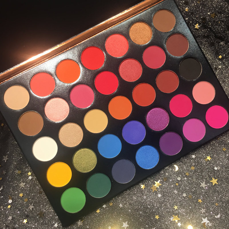Pro Brand Eye Makeup Nudes Palette 35 Colors Matte Glitter Eyeshadow Shimmer Powder Easy to Wear Cosmetics