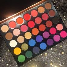 Pro Brand Eye Makeup Nudes Palette 35 Colors Matte Glitter Eyeshadow Shimmer Powder Easy to Wear Cosmetics