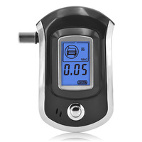 NEW Hot Selling Fashion Professional Mini Police Digital LCD Breath Alcohol Tester Breathalyzer AT6000 Free