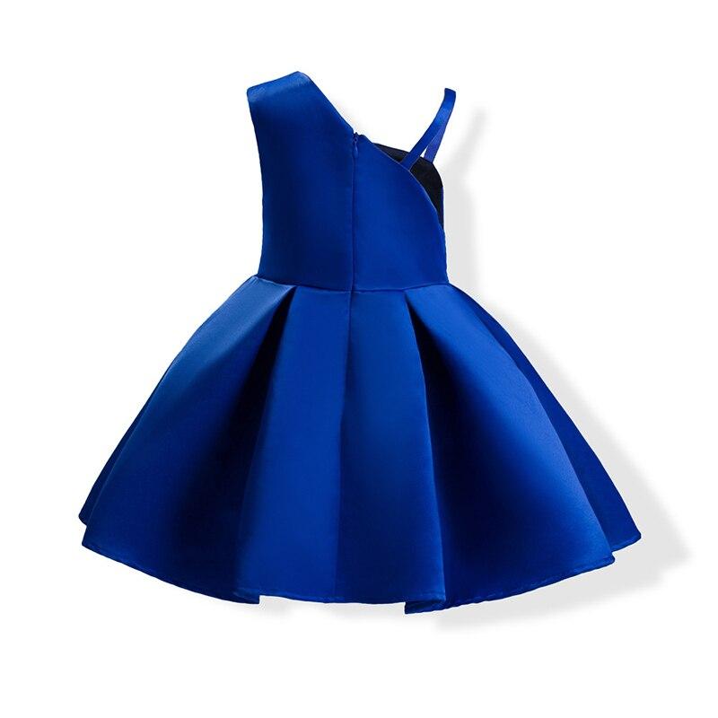 2 Popularny kolor Red Blue Baby Girls Pageant Sukienek Bowknot Bez - Ubrania dziecięce - Zdjęcie 2