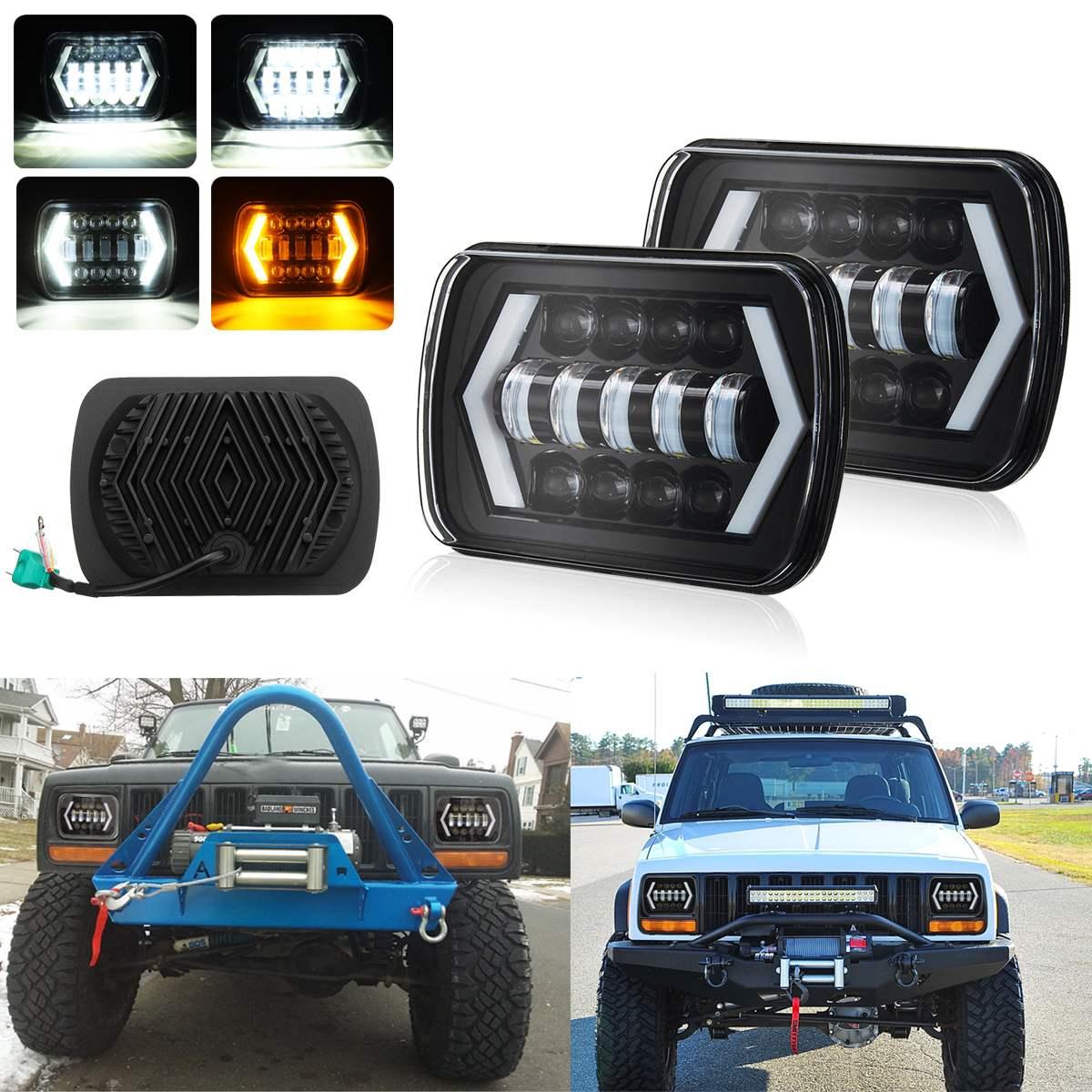 2 шт. для автомобиля вездеходы грузовик внедорожник для nissan 7x6 55 Вт H4 светодиодный свет фар Hi -Lo море светодиодный луч