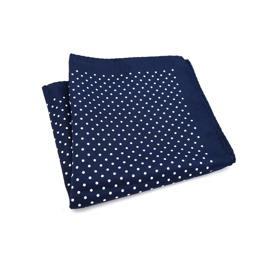 SF0214 New Popular 34x34CM Man Blue Polka Dot Pocket Square Hankies Casual Chest Towel For Men's Suit Big Size Handkerchief Gift