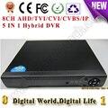 8-КАНАЛЬНЫЙ AHD/TVI/CVI/CVBS/IP Цифровой видеорегистратор DVR HVR NVR 1080NH AHD, поддержка аналоговых cctv/ahd/cvi/tvi/1080 P ip-камера onvif