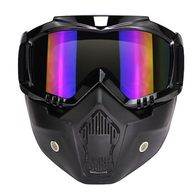 Shipping Harley motorcycle helmet goggles personality retro mask mask anti fog goggles double locomotive