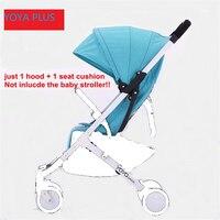 YoyaPlus Seat SunShade Cover Seat Pad Pram Mattress Hood Cushion Pad no frame Original Stroller Accessories Baby Throne Time