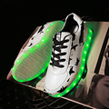 USB Rechargeable Led Luminous Shoes Light Up Shoes for Adults Basket Luminous Glowing Brand Designer Women Casual Shoes