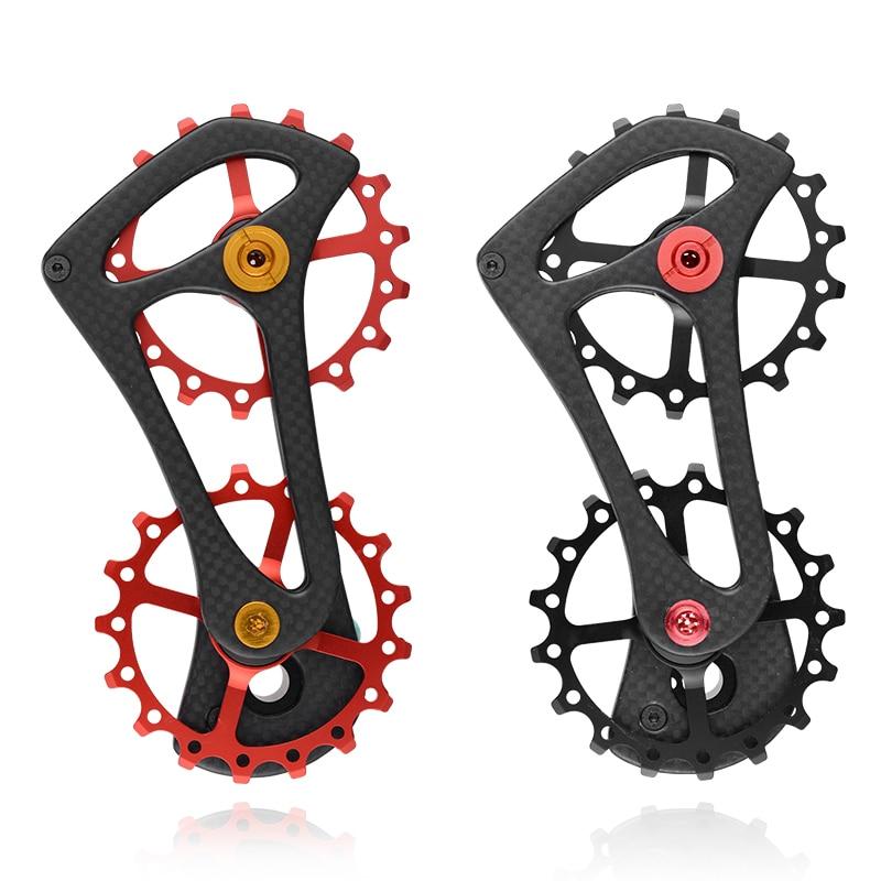 Bike Bicycle 17T Rear Derailleur Cage Pulley For Shimano 6800/6870/9000/9070 Ultegra Dura Ace Carbon Fiber Jockey Pulley Wheel