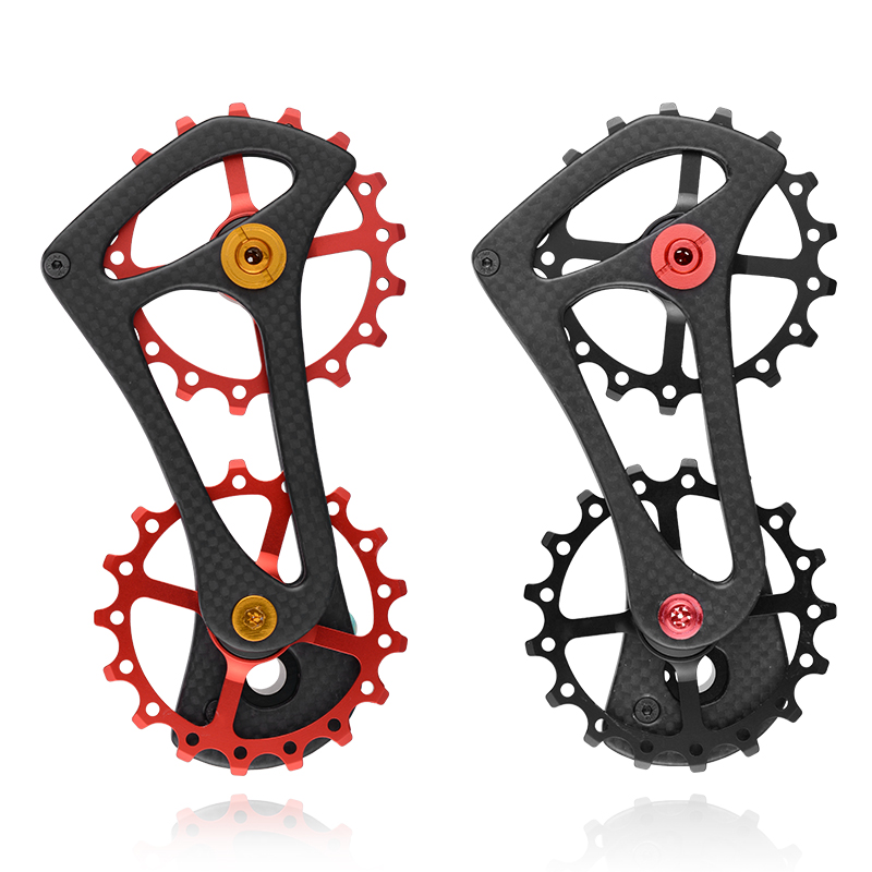 Vélo vélo 17 T arrière dérailleur Cage poulie pour Shimano 6800/6870/9000/9070 Ultegra Dura Ace fibre de carbone Jockey poulie roue