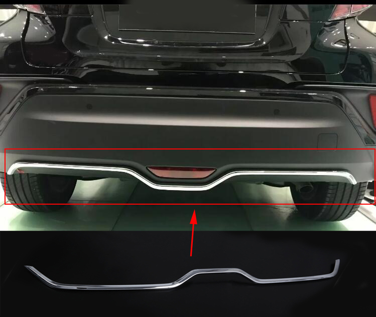 2016 2017 2018 For Toyota C-HR CHR C HR Stainless Rear Trunk Boot Tailgate Door Lid Cover Molding Trim Protectors Car Accessory stainless steel door lock decoration protection cover emblem case for toyota c hr chr 2016 2017 2018 accossories car styling