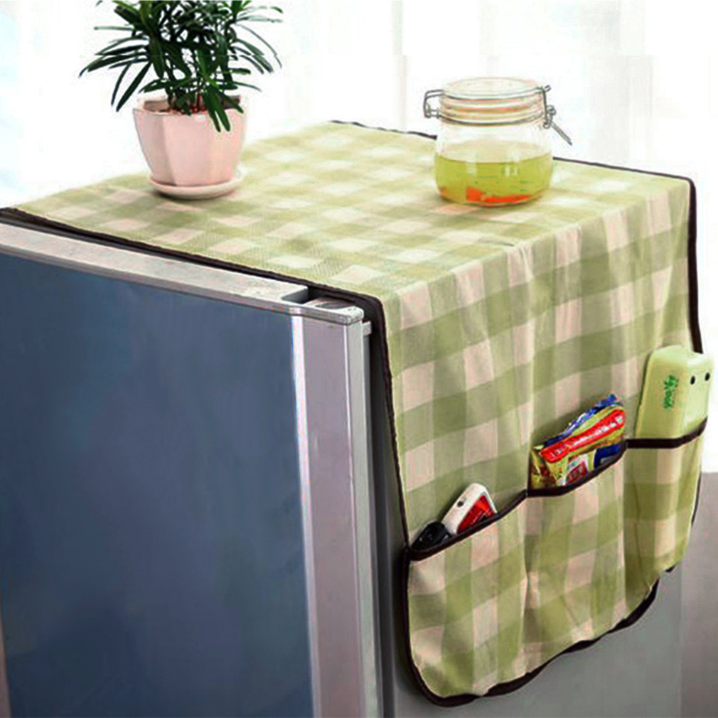 Fridge Lattice Refrigerator Dust Proof Cover Muti-use Pouch Storage Bag Organizador Kitchen Storage Organizer