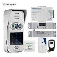 Free Shipping Code Keypad Wireless Wifi RJ45 720P Video Intercom For Phone Remote View Unlock Electric