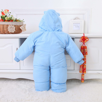 Animal Printed Winter Romper for Babies 3
