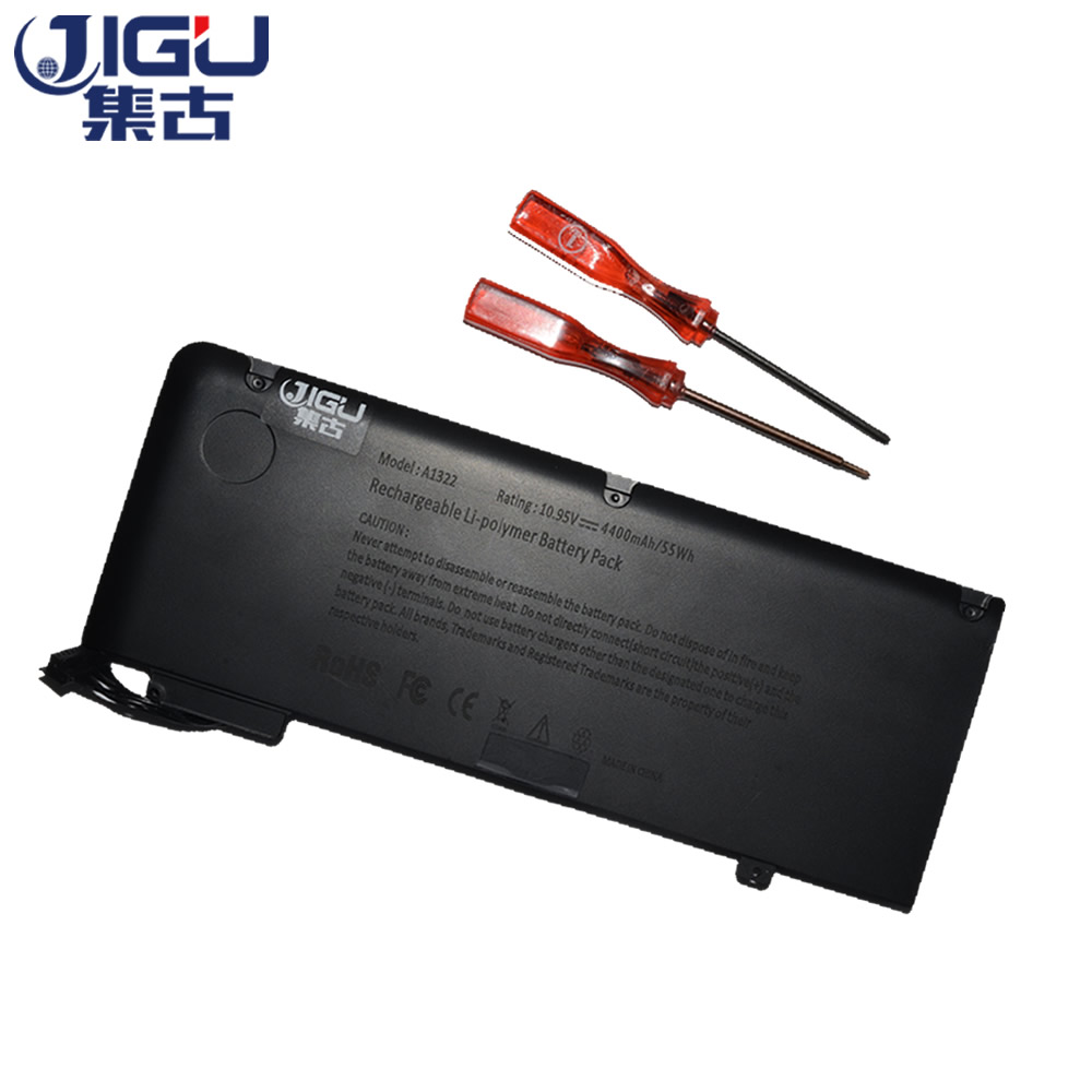 JIGU 10.95V 55WhLaptop Battery A1322 A1278 MC700 For Apple For MacBook Pro 13