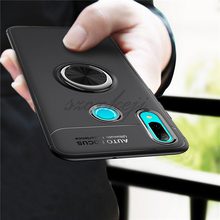 For Huawei psmart 2019 Plus case Silica gel cover Car Holder Stand Magnetic Bracket Finger Ring TPU Case psmart-2019