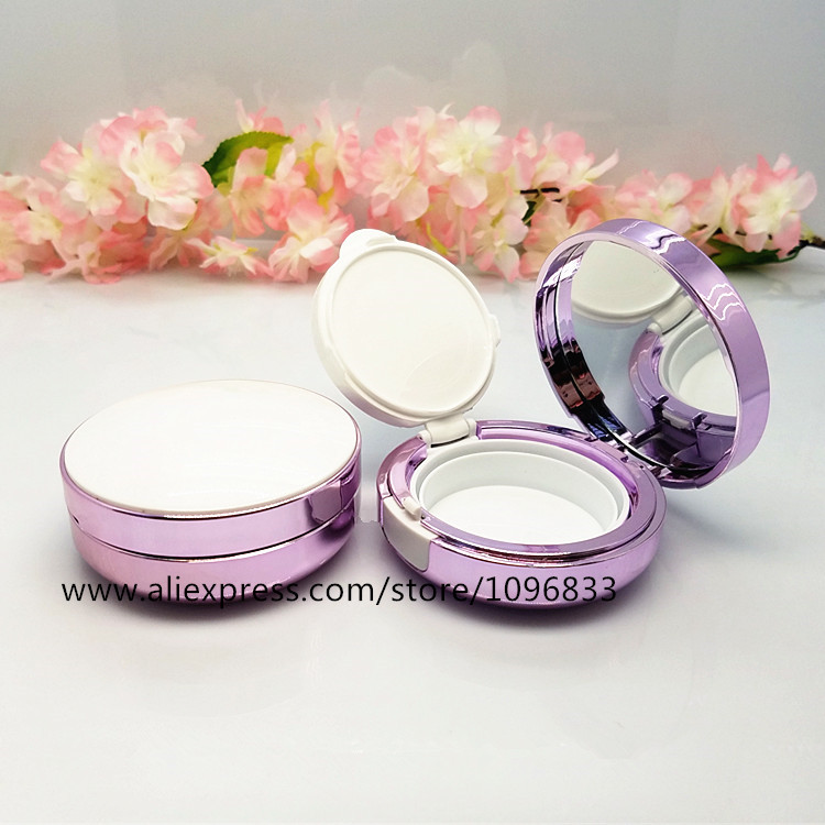Empty Cosmetic Foundation Compact Air Cushion Case Purple Color Cosmetic BB CC Compact, DIY Make up Cream Compact, 1 Set chanel 5ml cc cc cream